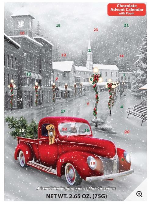 Holiday Ride Chocolate Advent Calendar