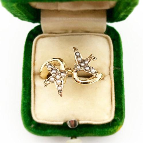 Seed Pearl Bird Ring