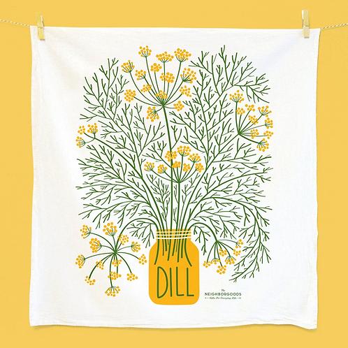 Dill Herb Dish Towel