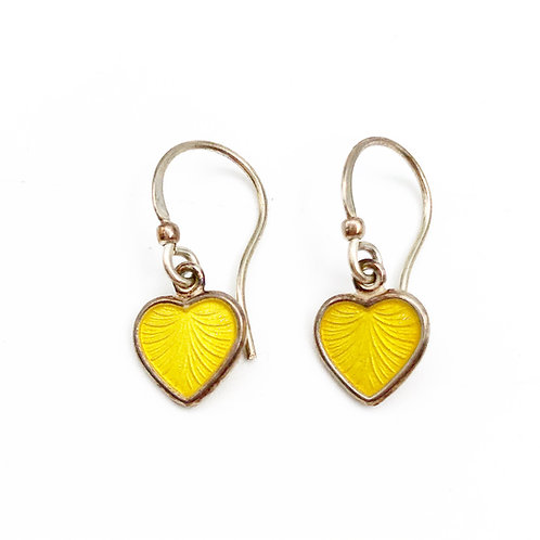 Enamel Danish Heart Earrings