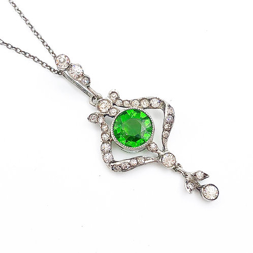 Beautiful Sterling French Paste Necklace