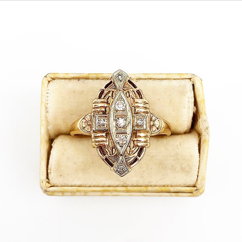 1920's Diamond Cocktail Ring