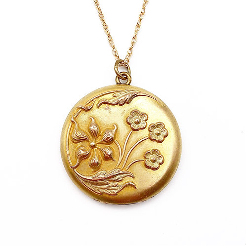 Floral Art Nouveau Locket