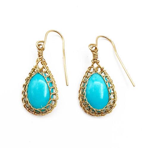 Artisan Made Turquoise Earrings