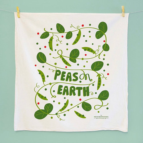 Peas On Earth Dish Towel