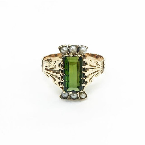 Victorian Green Tourmaline Ring