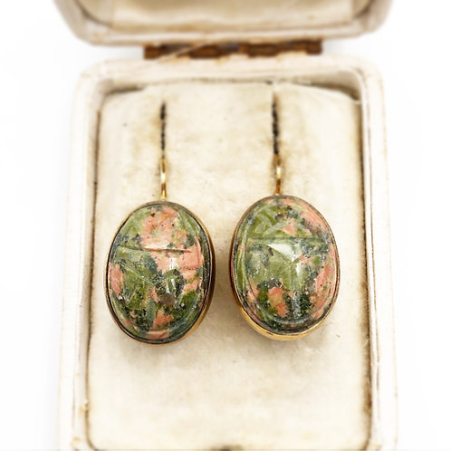 Agate Scarab Earrings