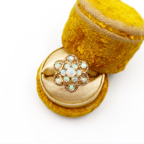 Antique Opal Flower Ring