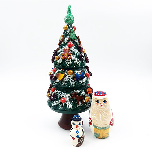 3 Piece Christmas Nesting Doll