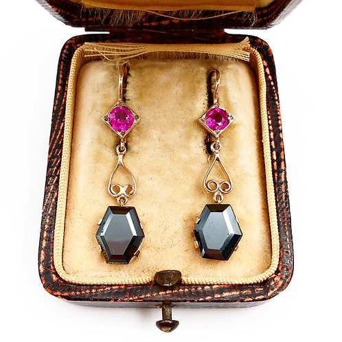 Art Deco Hematite Earrings