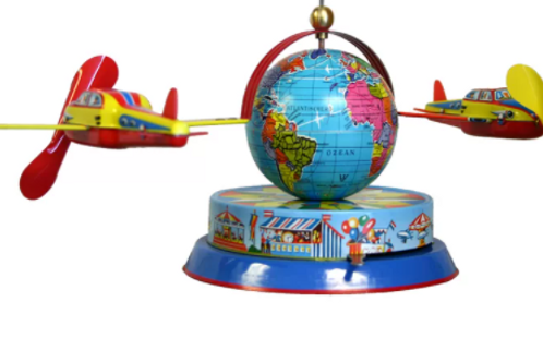 2 Airplane Tin Toy