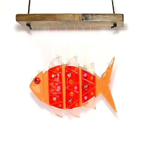 Orange Fish Wind Chime