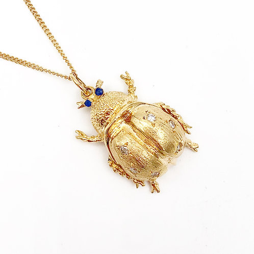 Yellow Gold Bug Necklace