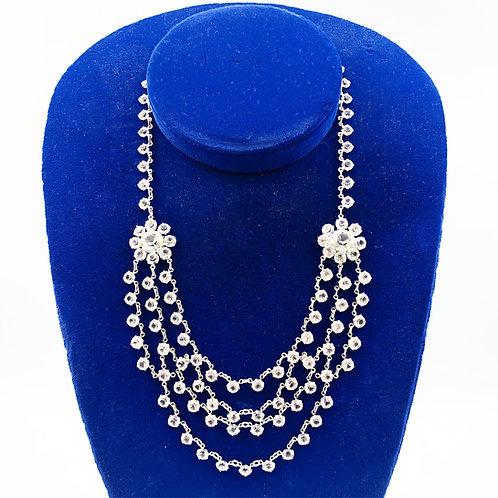 Antique Crystal Bib Necklace