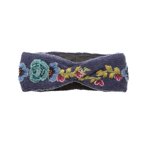 Navy Flower Crown Headband