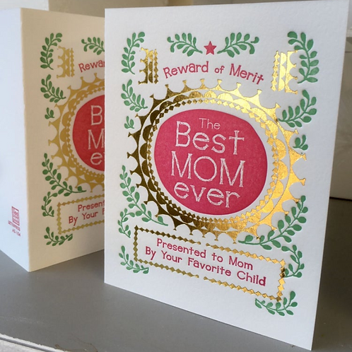 Best Mom Ever Presented to Mom By Your Favorite Child