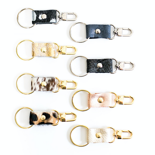 Leather & Cowhide Keychain
