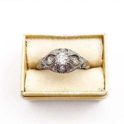 Unique Diamond Cluster Ring