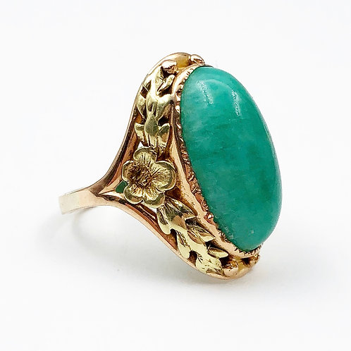 Gorgeous Cabochon Emerald Ring