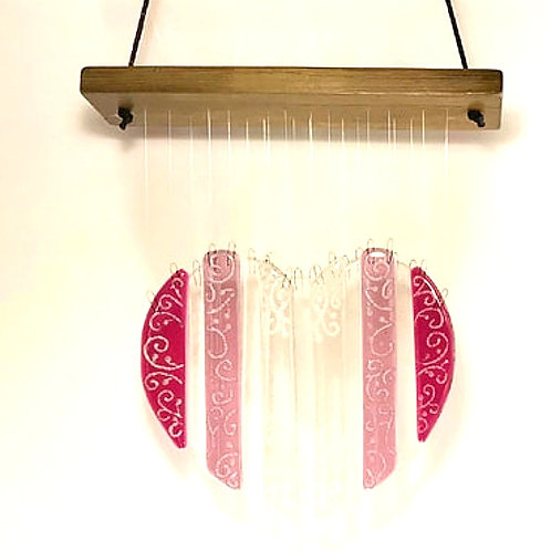 Pink Heart Wind Chime