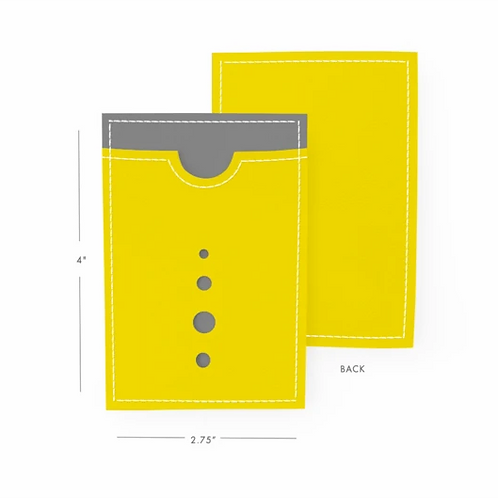 Mustard Yellow and Grey Card Holder
