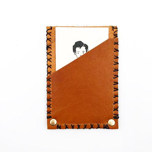 Tri Pocket Leather Card Holder