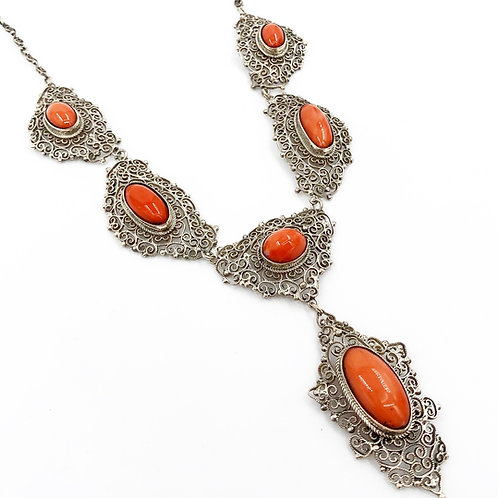Sterling Coral Necklace