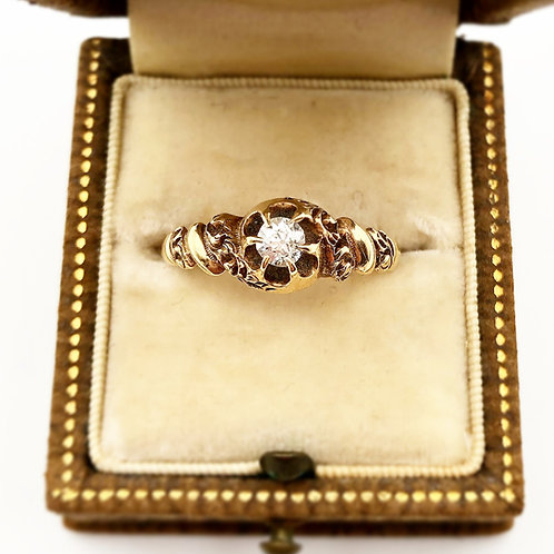 Victorian Era Rose Gold Diamond Ring