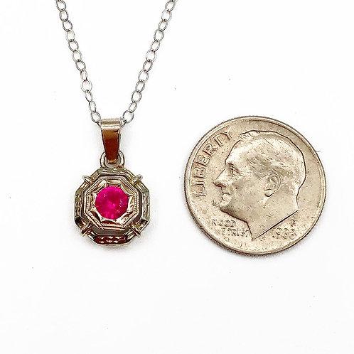 Art Deco Petite Ruby Necklace