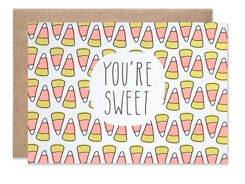 You're Sweet Candy Corn Card