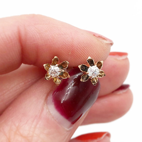 Antique Diamond Studs