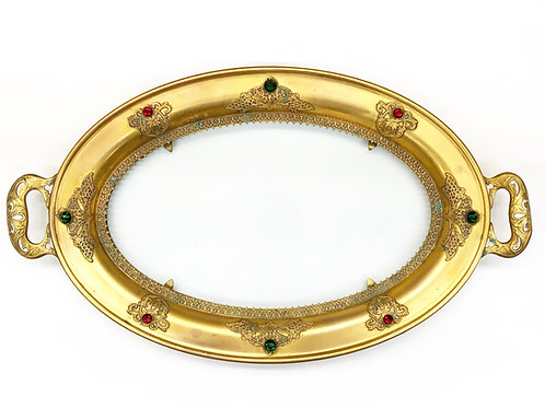 1910-1920's Jeweled Tray