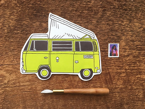 Camper Van Post Card