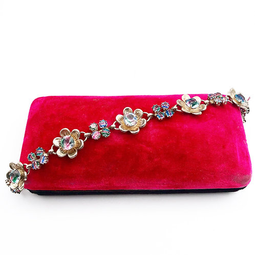 Antique Watermelon Crystal Bracelet