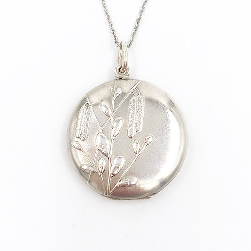 Sterling Pussy Willow Locket