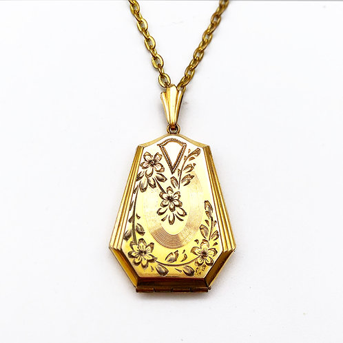 Floral Locket With Original Chain