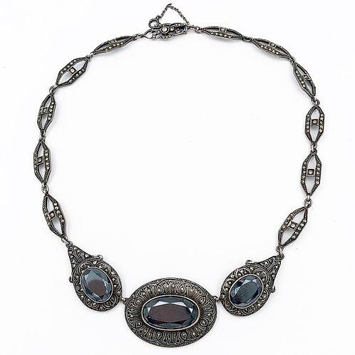 Art Deco Hematite Necklace