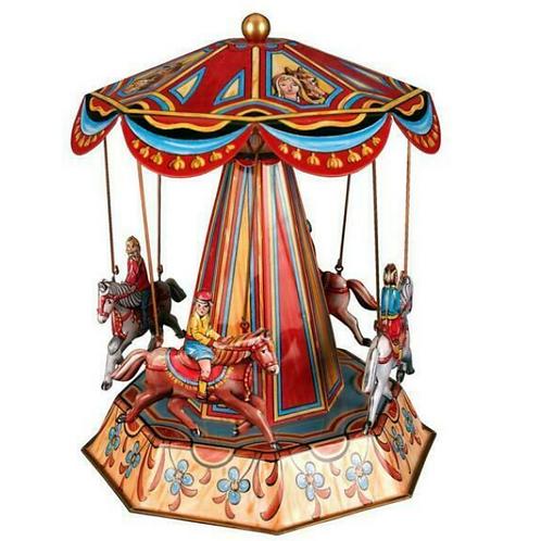 Horse Carousel Tin Toy