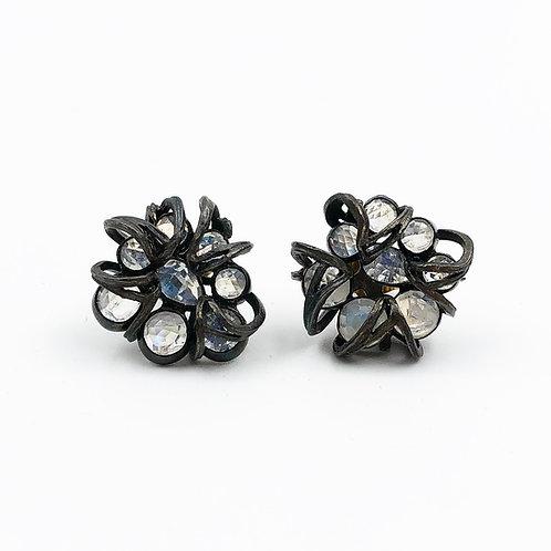 Faceted Moonstone Earrings