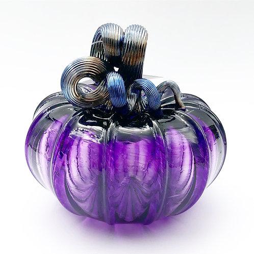 Squat Glass Pumpkin