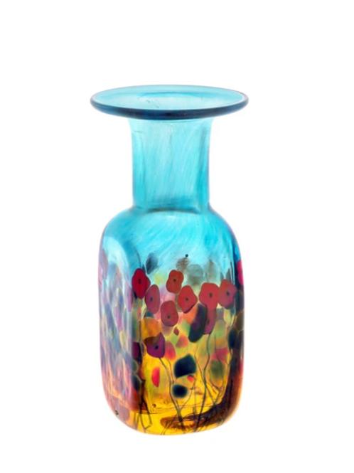 California Poppy Mini Square Vase
