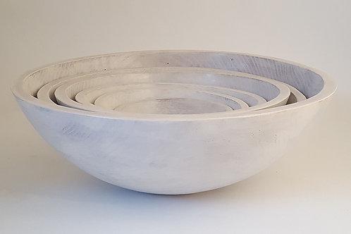"White Pearl 15"" Wood Bowl"