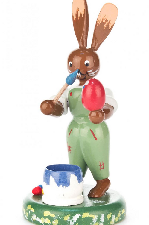 Easter Bunny Painting Eggs