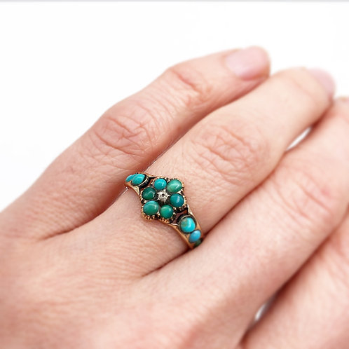 Forget-Me-Not Turquoise Flower Ring