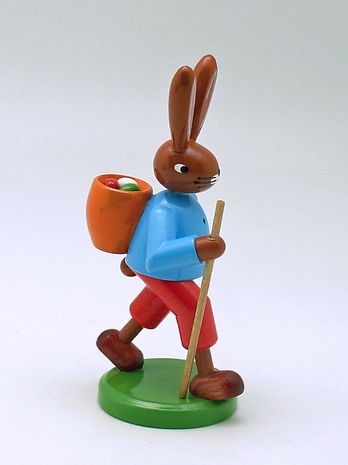 German Easter Bunny Hiking For Eggs