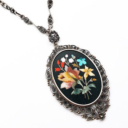 Italian Pietra Dura Necklace