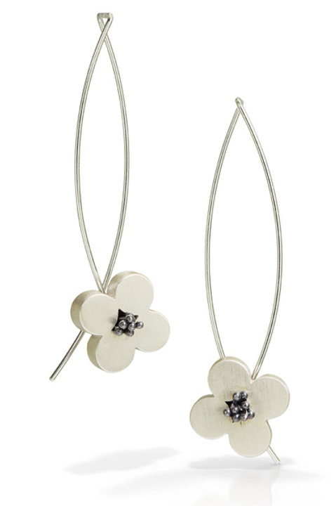 Sterling Flower Earrings