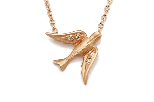 Bird Necklace With Diamonds