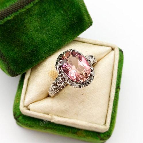 Edwardian Era Pink Tourmaline Ring