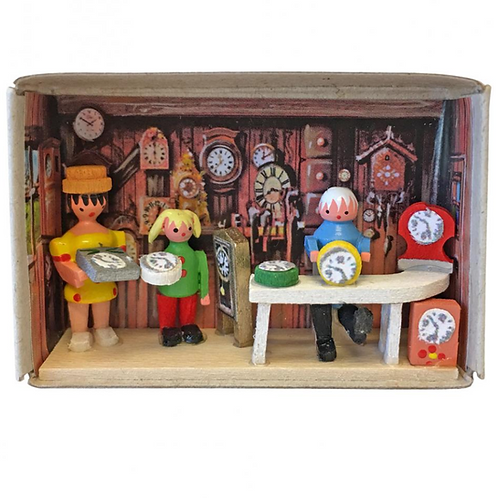 German Clock Maker Matchbox